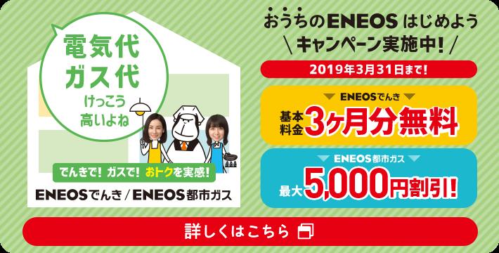 2019年3月に行われていたENEOSでんきのキャンペーン