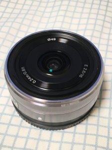 SEL16F28のフィルター系はφ49mm
