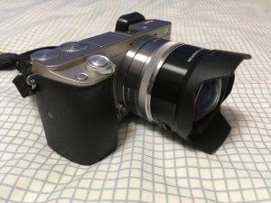 α6000にSEL16F28とワイコンを装着した外観